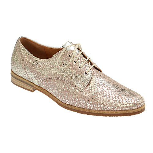 GABOR SHOES COMFORT Womens Derby Brogues (Metallo)