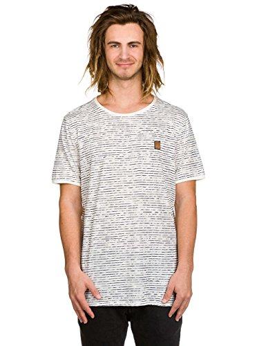 Naketano Male T-Shirt Hosenpuper VIII offwhite gestreift
