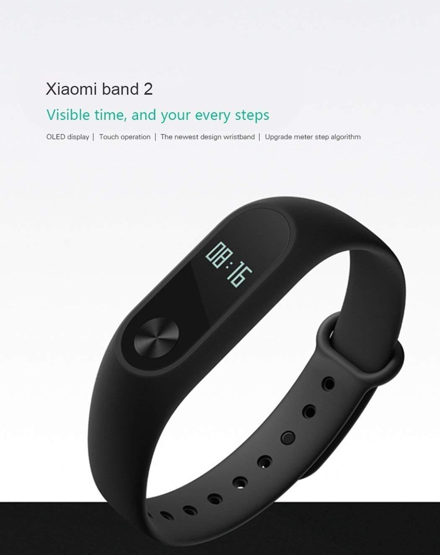 Xiaomi Mi Band 2 Fitness Smartband, Pulsera de actividad, con monitor de ritmo cardíaco, color Negro 8