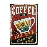 HUABEI Poster Métal Vintage Signe Plaque Affiche Art Décoratif Mural Café Bar Pub