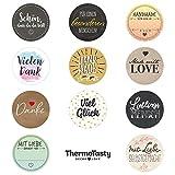 ThermoTasty Decor Love 99x Universal Geschenkaufkleber Etiketten Sticker für Geschenk-Tüten und...