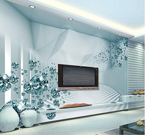 WH-PORP tapete 3D Stereo Space Sense Of Modern Fashion Crystal Ball Picture-300cmX210cm