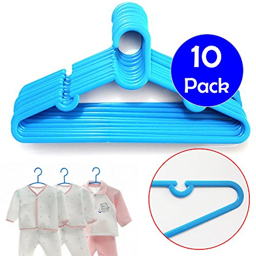 childrens-plastic-cloths-blue-hangers-for-baby-toddler-clothes-pack-of-10