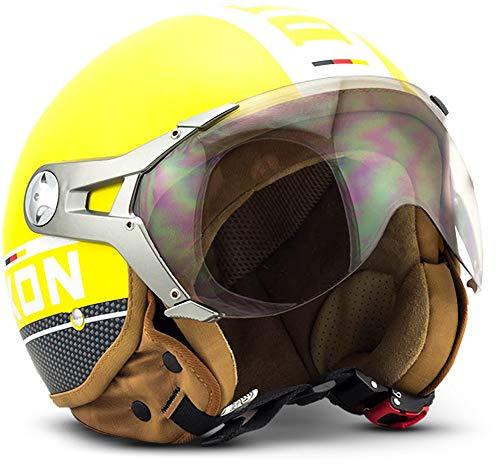 Casco jet amarillo estilo piloto clásico - SOXON