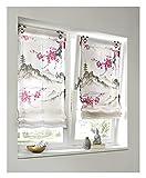 Raffrollo Digitalprint auf Batist Halbtransparent in Bunt 100% Polyester (H/B: 130x45 cm)