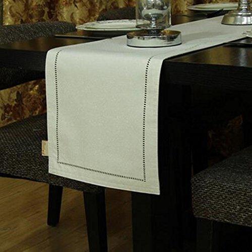 YHDD Moderne Tischfahne Kaffee Tischdecke Konsolentisch Flagge TV Gegen Tuch Klavier Abdeckung Stoff Stile (Farbe : Beige, größe : 33 * 200CM)