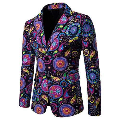 46dc9e4e568c60 Qinsling Giacche da Abito Elegante Vestito da Uomo Slim Fit Giacca Cappotto  Blazer in Paillettes Uomo