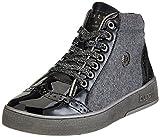 Bugatti Damen 421291315060 Hohe Sneaker, Schwarz (Black/Dark Grey), 40 EU