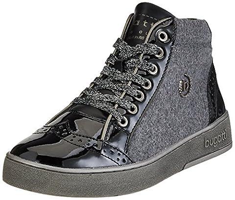 Bugatti Damen 421291315060 Hohe Sneaker, Schwarz (Black/ Dark Grey), 39 EU