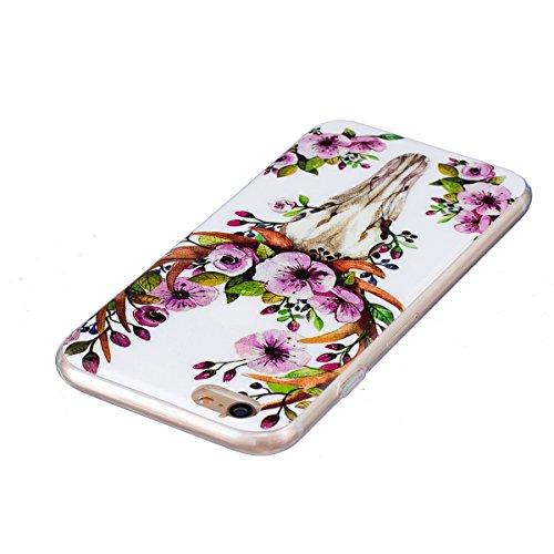 iPhone 6 Hülle, iPhone 6S Hülle, Gift_Source [ Hirsch ] Hülle Case Transparent Weiche Silikon Schutzhülle Handyhülle Schutzhülle Durchsichtig TPU Crystal Clear Case Backcover Bumper Case für iPhone 6s E1-Sika Deer