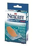 Nexcare N1205DM Aqua 360 degree Maxi Pflaster 60 x 89 mm, 5 Stück