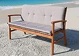 GRASEKAMP Qualität seit 1972 Auflage Sand für Gartenbank 150cm Rio Grande Bank Gartenmöbel