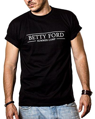 2baecfda940235 Cooles Party T-Shirt mit Druck BETTY FORD schwarz Männer XXL
