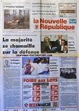 NOUVELLE REPUBLIQUE (LA) [No 15010] du 24/02/1994 - UN SCHEMA D'ACCUEIL DES GENS DU VOYAGE EST A L'ETUDE - PLAN DEPARTEMENTAL DE SECURITE - LE LIVRE BLANC ET LE MORATOIRE SUR LES ESSAIS NUCLEAIRES - DISCOUNT ET SHUTTLE / UNE LOI TOUBON DEFENDRA LE FRANCAIS - DEFENDRE LA LANGUE PAR ARBONA - LES SPORTS / KERRIGAN ET HARDING / L'EXPLICATION - 3 ADOLESCENTS SOUPCONNES D'AVOIR TORTURE ET VIOLE UN DE LEURS CAMARADES - RUSSIE / LES DEPUTES ONT VOTE L'AMNISTIE DES DIRIGEANTS DE L'INSURRECTION D'OCTOBRE...