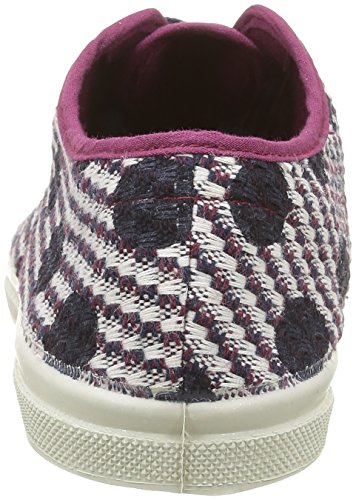 Bensimon - Tennis Dots On Tweed, Sneaker Donna Multicolore (Multicolore(403 Bordeaux))