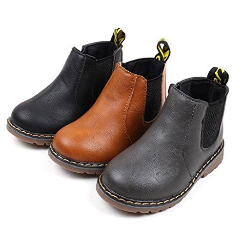 Martin Sneaker Bottes Enfants, QinMM Mode Garçons Filles Enfants Bébé Zipper Occasionnel Chaussures