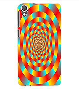 ColourCraft Lovely Colourful Pattern Design Back Case Cover for HTC DESIRE 820