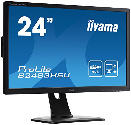 iiyama B2483HSU B1DP 24 ProLite Height varied HD LED Monitor Black Monitors