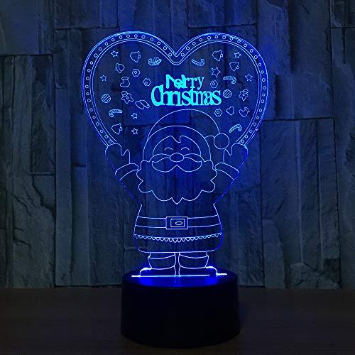 Acryl 7 Farbwechsel Weihnachtsmann 3D Nachtlicht Kreative Led 3D Tischlampe Für Kinder Kinder Freund Weihnachten Gft