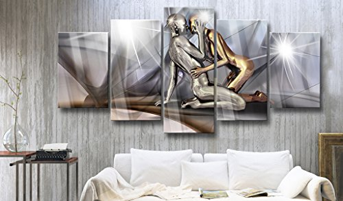 murando - Acrylglasbild Abstrakt 200x100 cm - 5 Teilig - Glasbilder - Wandbilder XXL - Wandbild - Bilder - h-A-0019-k-m - 4
