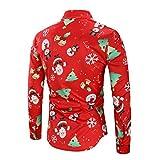 Männer Weihnachten Bluse Mann Männlichen Langarm T-Shirt Lässig Schneeflocken Santa Weihnachtsbaum Süßigkeit Gedruckt Top Bluse Moonuy