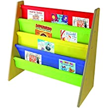 Nuovva - Scaffale espositore per libri per bambini in colori primari