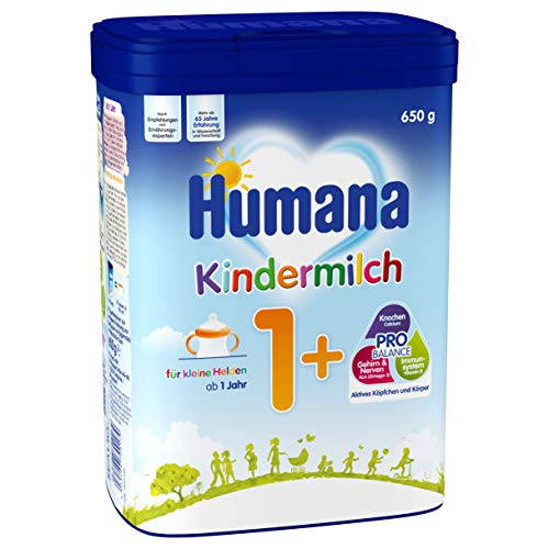 Humana Kindermilch 1+, ab 1. Jahr, 4er Pack (4 x 650 g)