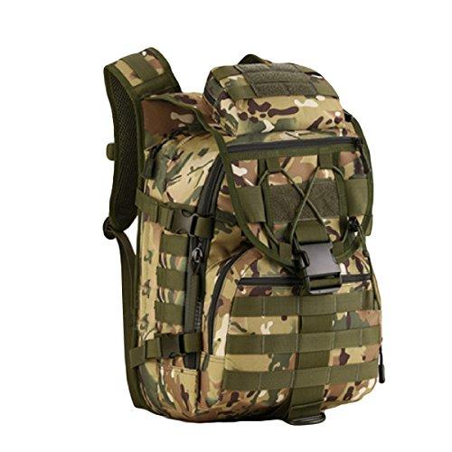 Tarnung Im Freien Bergsteigen Tasche 40 Liter Abmessungen: Breite Hoch 47x 31x 23 Cm Dick,Black CPCamouflage