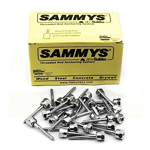 Everflow Sammys 8022925–25SWG 25–3803/20,3cm Schraube Sidewinder Design für Holz, Rod Aufhänger, installiert Horizontal, Stahl verzinkt, Korrosionsbeständigkeit, 3/8x 2–1/5,1cm Schraube Länge (25Stück) (Sidewinder 3 Stück)