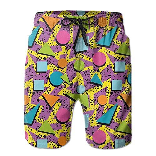 Funky Geometric 80s Memphis 80s Pattern Shorts