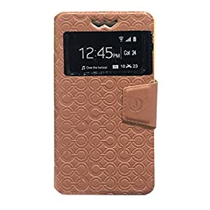 Jo Jo Cover Astro Series Leather Pouch Flip Case With Silicon Holder For Lenovo Vibe X S960 Brown