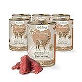 aniforte® purena Ture cibo per cani Capra Pur 6X 400G–Prodotto naturale per cani