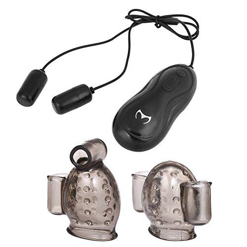 Anself Masturbatoren für Männer Penis Massager Leistungsstarker Eichel Stimulator mit 2 Caps und 2 Bullet Vibratoren 10 Frequenzmodi