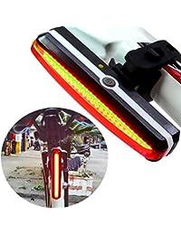 lzndeal LED Feu arrière de Vélo Eclairage Arrière Vélo Eclairage Velo Puissant Lampe Velo Led Rechargeable, 6 Modes , Résistant à l'eau, Feu arrière Pour VTT VTC, Assurer la sécurité et visibilité