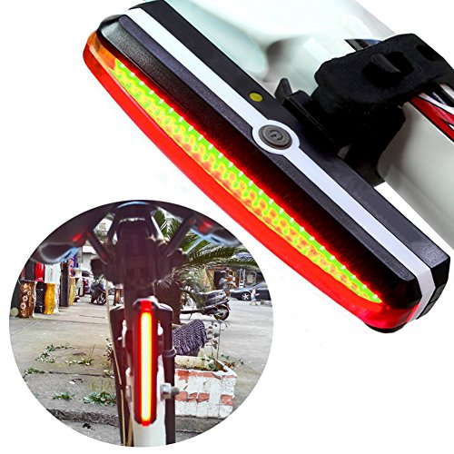 Espeedy LED Bicycle Rear Light, Super bright bicycle light USB rechargeable bikes rear tail lights LED cycling accessories security lantern