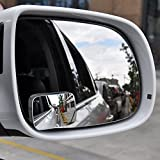 zhuotop 2pcs ajustable coche Espejo punto ciego lateral retrovisor convexo gran angular estacionamiento