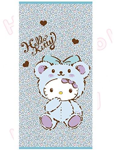 Kitty Strandtuch 76,2x 152,4cm 100% Baumwolle Bad Dusche Blau Leopard Muster -