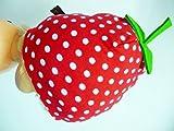 erdbeermütze ,mütze erdbeere , stoff erdmütze, mütze rot mit punkten