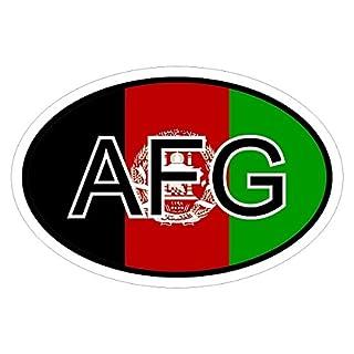 Afghanistan AFG in zwei Größen mehrfarbig Autoaufkleber Aufkleber KFZ Flagge