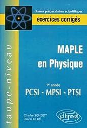 Maple en physique PCSI-PPSI-PTSI