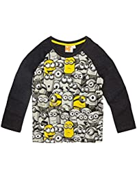 Minions Despicable Me Chicos Camiseta mangas largas 2016 Collection - Gris