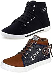 Ethics Men's Perfect Combo Pack of 2 Synthetic Casual Sneakers Shoes for
