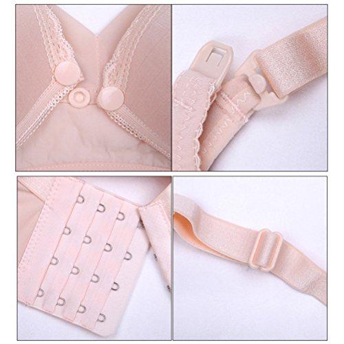 Zhhlaixing Pregnant Women Cotton Breathable Breastfeeding Bra Reggiseno Allattamento Maternity Vest Bras Underwear Purple