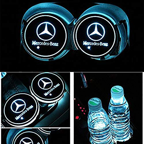 PRXD 2pcs LED Auto Cup Halter Matte Pad Wasserdicht Flasche Getr/änke Untersetzer f/ür Universal Auto zur Autodekoration Stimmungslicht Innenraumbeleuchtung wasserdicht au-di
