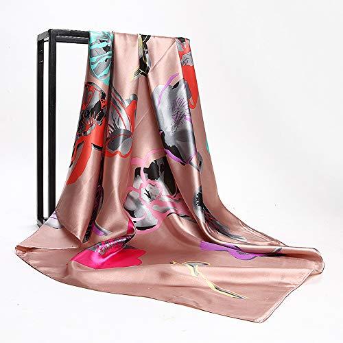 JJHR Seide Schal Chiffon für Für Scarf 90 * 90Cm Square Scarf Abstract Hand-Painted Flowers Floral Ladies Scarf -