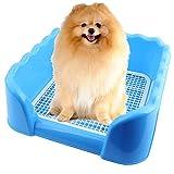Hundetoilette, Legendog Hundetoilette Welpentoilette mit High Zaun Hund Töpfchen Pet Training WC Hundeklo Welpenklo für Hunde Welpen Katzen