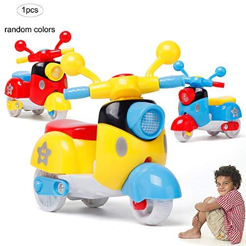 1PC Kids Mini modello del motociclo di plastica di simulazione Inerzia giocattolo tirare indietro giocattolo auto moto giocattolo Sport Road Racing accumulazione del modello per i bambini (a caso)