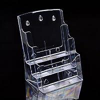 Deye Trading letteratura display supporto per parete o tavolo a 3ripiani A4verticale/tre strati di materiale acrilico trasparente portariviste - A4 Verticale Parete