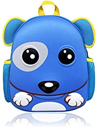 Toddler Boys Backpack Mini Cute Kids Kindergarten Preschool Backpack Cartoon Animal Zoo Pack For Baby Girls Puppy...
