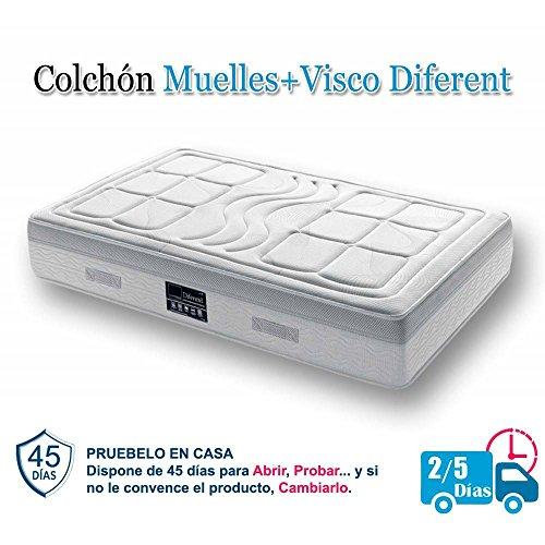 Colchón Muelles Ensacados & Visco DIFERENT - 150 x 200 cm.